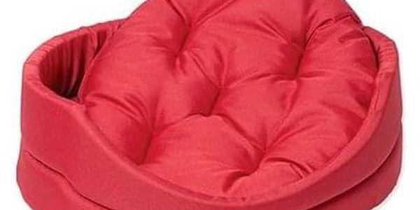 DOG FANTASY pelech oval s polštářem 42×34×14cm červený