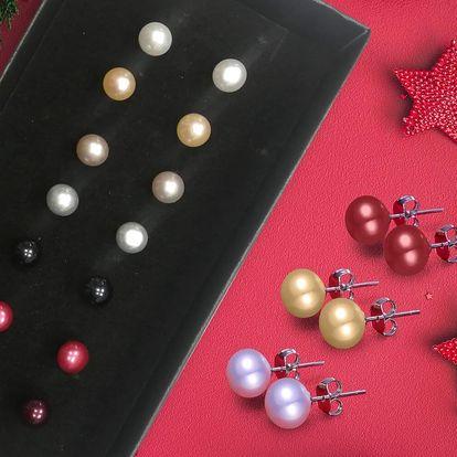 Stříbrné náušnice s pravými říčními perlami