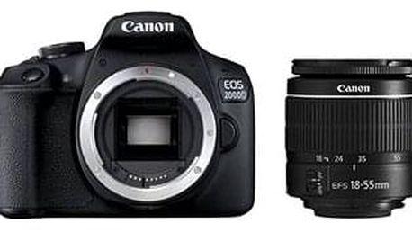 Digitální zrcadlovka Canon EOS 2000D + 18-55mm DC III