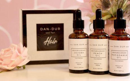 Sady olejů pro růst i výživu vlasů, na vrásky aj.
