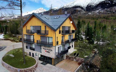 Moderní apartmány pod Tatrami se snídaní a lahví vína