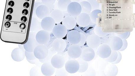 VOLTRONIC® Párty LED osvětlení 20 m - studená bílá 200 diod - BATERIE