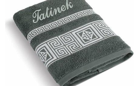 Bellatex Froté ručník 50x100 řecká kolekce 155/038 s výšivkou Tatínek