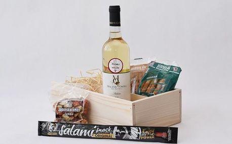 Dárkové balení vína: 1 láhev + mlsání