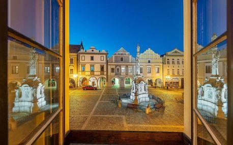Hotel Zlatá hvězda**** v Třeboni s polopenzí, whirpool a fangoterapií