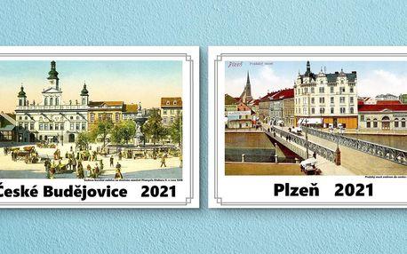 Kalendáře na rok 2021 se starými fotkami měst