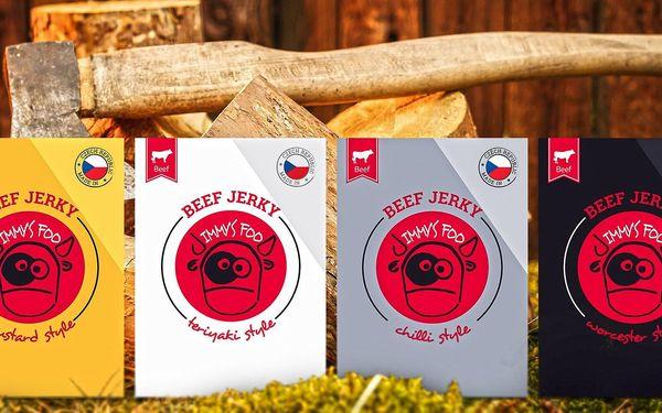 24 balíčků českého hovězího jerky Jimmy's Food