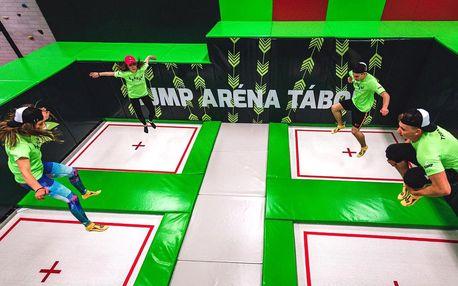 Jump aréna Tábor: 1 nebo 2 hod. skákání