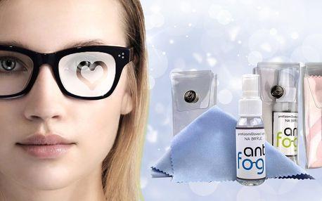 Sprej proti mlžení brýlí, hadřík a pouzdro