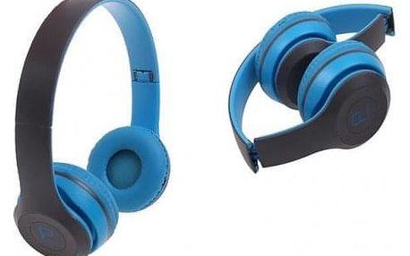 Hudební sluchátka P8047 modrá