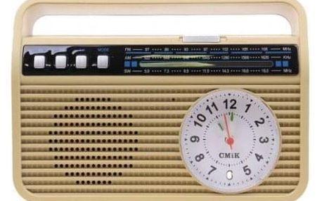 Přenosné retro rádio MK-190 žluté
