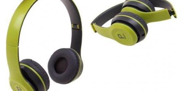 Hudební sluchátka P8047 zelená