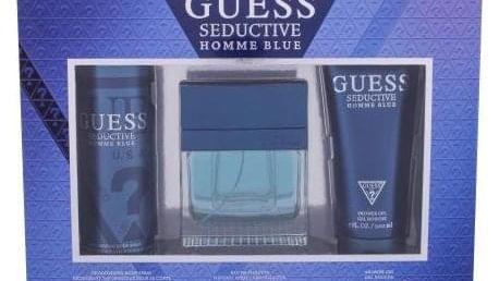 GUESS Seductive Homme Blue dárková kazeta pro muže toaletní voda 100 ml + sprchový gel 200 ml + deodorant 226 ml