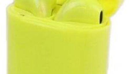 Sluchátka i12 TWS a dobíjecí box žlutá