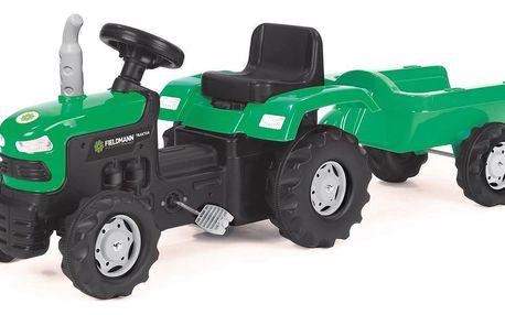BUDDY TOYS BPT 1013 Šlapací traktor s přívěsem