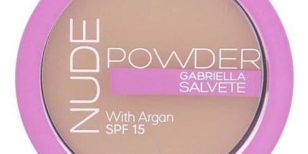 Gabriella Salvete Nude Powder SPF15 8 g kompaktní pudr pro ženy 04 Nude Beige