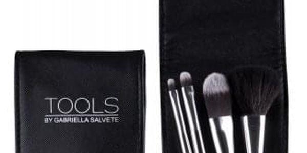 Gabriella Salvete TOOLS Travel Set Of Brushes dárková kazeta pro ženy kosmetický štětec na pudr 1 ks + kosmetický štětec na tvářenku 1 ks + kosmetický štětec na oční stíny 1 ks + kosmetický štětec na rtěnku 1 ks+ pouzdro