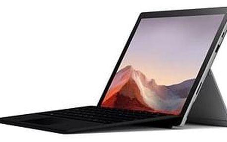 Tablet s klávesnicí Microsoft Surface Pro 7 128GB i3 4GB platinum + EN/US klávesnice v balení (černá)