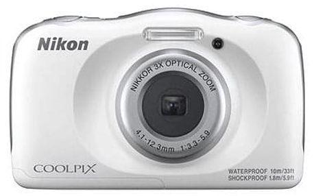 Dětský fotoaparát Nikon COOLPIX W150 bílý backpack kit