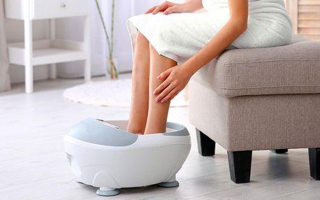 Masážní vanička na nohy: vibrace, bublinky, ohřev