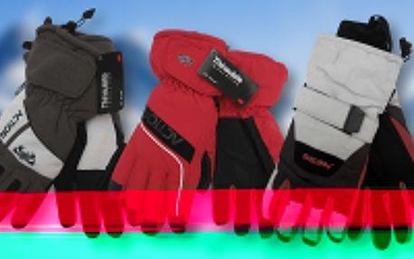 Pánské lyžařské rukavice s nepromokavými dlaněmi