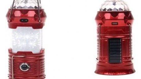 Multifunkční solární LED lucerna červená