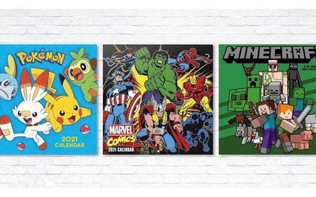 Dětské kalendáře pro rok 2021 s oblíbenými hrdiny