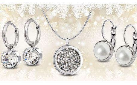Ocelové šperky s krystaly a perlami Swarovski®