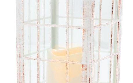 Lucerna s LED svíčkou na baterie Lille 14 x 28 cm, bílá