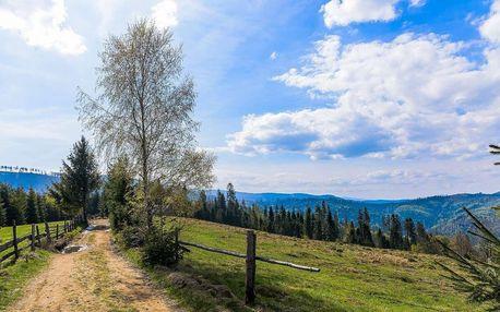 Od zimy do jara v Chatě Barborka v Horní Bečvě s polopenzí u Stezky v korunách stromů