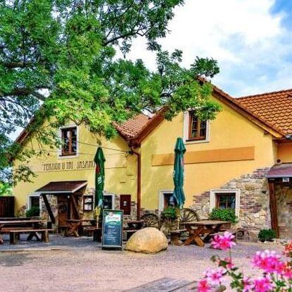 Jižní Morava u Znojma stylově v Penzionu U Tří Jasanů se snídaněmi a poukazem do restaurace či na wellness