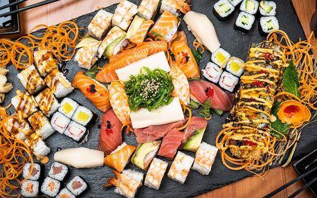 Sushi sety s lososem, mangem, tuňákem i krevetami