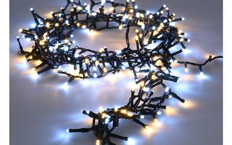 Světelný vánoční řetěz Twinkle studená a teplá bílá, 560 LED