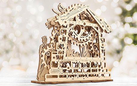 Pohyblivý 3D betlém z ekologického dřeva