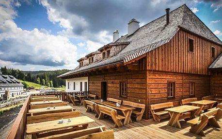 Pobyt v pivovaru na Modravě: snídaně, pivo i sauna