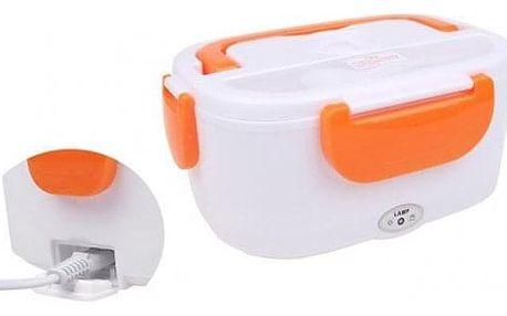 Elektrická krabička na jídlo oranžová
