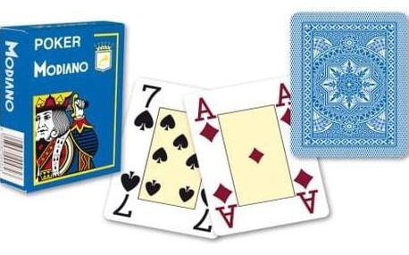 Modiano 31301 100% plastové karty 4 rohy - Světle modré