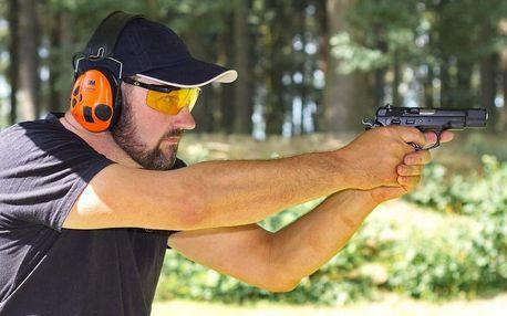 Střelba na střelnici - 90 nábojů z 10 zbraní