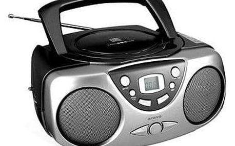 Radiomagnetofon a CD přehrávač Orava RCD-812