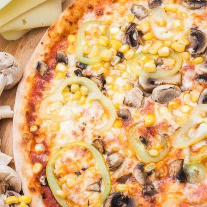 Pizza dle výběru i možnost rozvozu po celém Brně