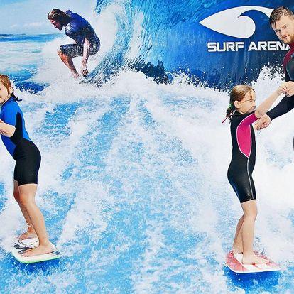 Surfový simulátor i občerstvení v Surf Areně