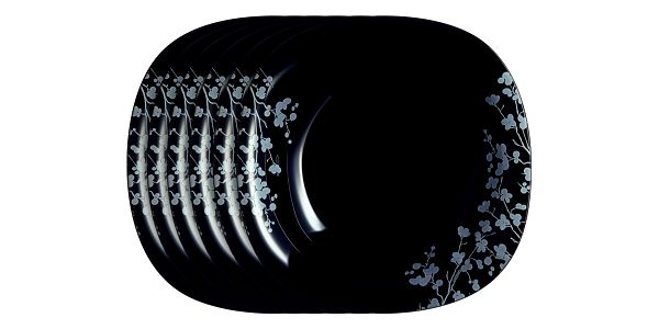Luminarc Sada hlubokých talířů Ombrelle 21 cm, 6 ks, černá
