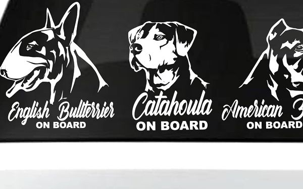 Nálepky 15 oblíbených psích plemen na sklo auta