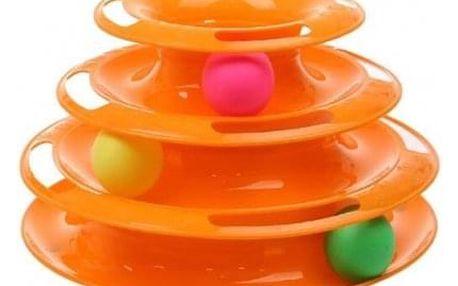 Hračka pro kočky - věž s míčky