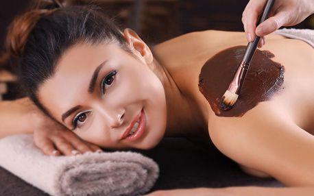 Skořicová, čokoládová nebo medová masáž zad a krku