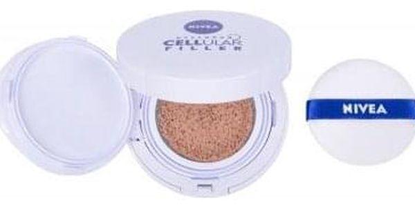 Nivea Hyaluron CELLular Filler 3in1 Care Cushion SPF15 15 g pečující make-up v houbičce 3 v 1 pro ženy 01 Light