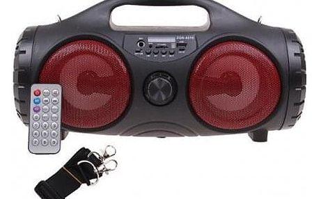 Přenosné bluetooth rádio ZQS-4215 červené