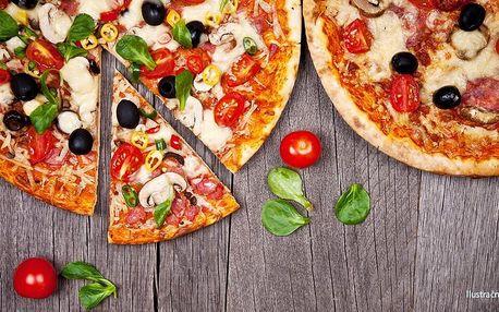 Dvě pizzy dle vlastního výběru z 19 druhů
