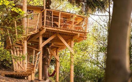 Ubytování v treehousu se saunou a výhledem na Ještěd