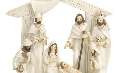 Vánoční dekorace Betlém hnědá, 22 x 7
